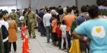 Afghan evacuees being processed in Texas